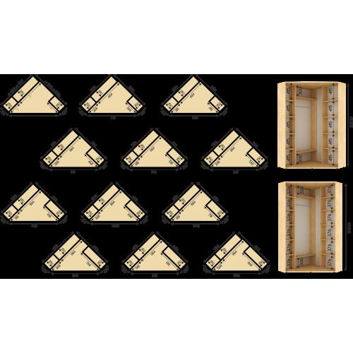 Угловой шкаф с раздвижной системой