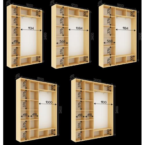 Шкаф на 2 двери , глубина 450мм высота 2400мм